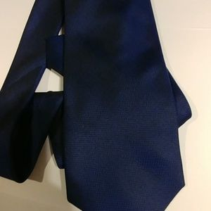 Calvin Klein Extra Long Silk Tie Navy Blue